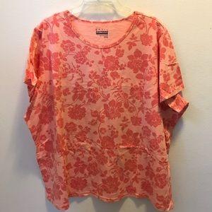 Light pink flower printed shirt
